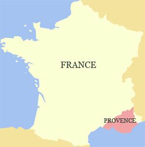 Kaart Provence